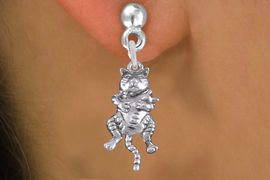 <bR>                 EXCLUSIVELY OURS!!<BR>            AN ALLAN ROBIN DESIGN!! <BR>  CADMIUM, LEAD & NICKEL FREE!! <BR> W1373SE - ANTIQUED SILVER TONE <BR> MOTHER CAT HOLDING HER BABY CHARM <BR> EARRINGS FROM $4.50 TO $8.35 �2012