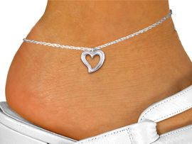 <bR>                 EXCLUSIVELY OURS!!<BR>           AN ALLAN ROBIN DESIGN!! <BR> CADMIUM, LEAD & NICKEL FREE!! <BR>W1374SAK - LARGE SILVER TONE <BR>  OPEN HEART CHARM & ANKLET <BR>       FROM $3.35 TO $8.00 �2012
