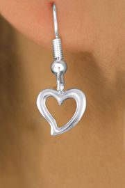 <bR>                 EXCLUSIVELY OURS!!<BR>           AN ALLAN ROBIN DESIGN!! <BR> CADMIUM, LEAD & NICKEL FREE!! <BR>W1374SE - LARGE SILVER TONE <BR>OPEN HEART CHARM EARRINGS <BR>     FROM $4.50 TO $8.35 �2012