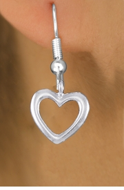 <bR>                 EXCLUSIVELY OURS!!<BR>           AN ALLAN ROBIN DESIGN!! <BR> CADMIUM, LEAD & NICKEL FREE!! <BR>W1375SE - SMALL SILVER TONE <BR>OPEN HEART CHARM EARRINGS <BR>     FROM $4.50 TO $8.35 �2012