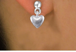 <bR>                 EXCLUSIVELY OURS!!<BR>           AN ALLAN ROBIN DESIGN!! <BR> CADMIUM, LEAD & NICKEL FREE!! <BR>W1376SE - TINY SILVER TONE 3D <BR>PUFFED HEART CHARM EARRINGS <BR>     FROM $4.50 TO $8.35 �2012