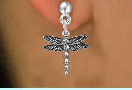 <bR>                  EXCLUSIVELY OURS!!<BR>            AN ALLAN ROBIN DESIGN!! <BR>  CADMIUM, LEAD & NICKEL FREE!! <BR> W1390SE - ANTIQUED SILVER TONE <BR>     DRAGONFLY CHARM EARRINGS <BR>      FROM $4.50 TO $8.35 �2013