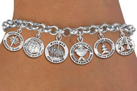 <Br>              EXCLUSIVELY OURS!! <Br>        AN ALLAN ROBIN DESIGN!! <Br>CADMIUM, LEAD & NICKEL FREE!! <Br>W19759B - SILVER TONE CHRISTMAS <BR>     THEMED SIX CHARM BRACELET <BR>        FROM $7.31 TO $16.25  �2012