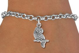 <bR>                 EXCLUSIVELY OURS!!<BR>           AN ALLAN ROBIN DESIGN!!<BR>  CLICK HERE TO SEE 1000+ EXCITING<BR>     CHANGES THAT YOU CAN MAKE!<BR> ABSOLUTELY LEAD & NICKEL FREE!! <BR>  W850SB - DETAILED SILVER TONE <BR>OWL ON BRANCH CHARM & BRACELET <BR>        FROM $4.15 TO $8.00 �2012