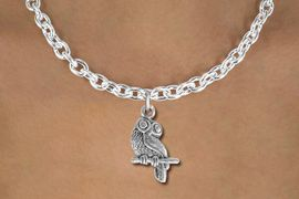 <bR>                EXCLUSIVELY OURS!!<BR>          AN ALLAN ROBIN DESIGN!!<BR> CLICK HERE TO SEE 1000+ EXCITING<BR>    CHANGES THAT YOU CAN MAKE!<BR> ABSOLUTELY LEAD & NICKEL FREE!! <BR>  W850SN - DETAILED SILVER TONE <BR>OWL ON BRANCH CHARM & NECKLACE <BR>     FROM $4.50 TO $8.35 �2012