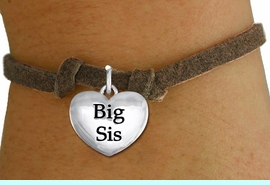 """<bR>                     EXCLUSIVELY OURS!!<BR>               AN ALLAN ROBIN DESIGN!!<BR>      CLICK HERE TO SEE 1000+ EXCITING<BR>         CHANGES THAT YOU CAN MAKE!<BR>        CADMIUM,  LEAD & NICKEL FREE!! <BR>W1298SB - POLISHED SILVER TONE <BR>""""BIG SIS"""" HEART CHILD'S BRACELET <BR>           FROM $4.15 TO $8.00 �2012"""