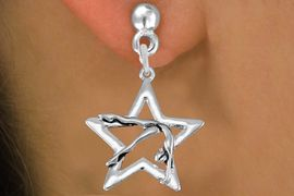 <bR>               EXCLUSIVELY OURS!!<BR>         AN ALLAN ROBIN DESIGN!!<BR>CLICK HERE TO SEE 1000+ EXCITING<BR>   CHANGES THAT YOU CAN MAKE!<BR>      CADMIUM,  LEAD & NICKEL FREE!! <BR>W1307SE -  SILVER TONE GYMNAST <BR>POSED IN STAR CHARM EARRINGS  <BR>      FROM $4.50 TO $8.35 �2012