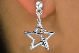 <bR>               EXCLUSIVELY OURS!!<BR>         AN ALLAN ROBIN DESIGN!!<BR>CLICK HERE TO SEE 1000+ EXCITING<BR>   CHANGES THAT YOU CAN MAKE!<BR>      CADMIUM,  LEAD & NICKEL FREE!! <BR>W1309SE -  SILVER TONE GYMNAST <BR>POSED IN STAR CHARM EARRINGS  <BR>      FROM $4.50 TO $8.35 �2012