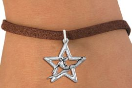 <bR>               EXCLUSIVELY OURS!!<BR>         AN ALLAN ROBIN DESIGN!!<BR>CLICK HERE TO SEE 1000+ EXCITING<BR>   CHANGES THAT YOU CAN MAKE!<BR>  CADMIUM,  LEAD & NICKEL FREE!! <BR>W1311SB - SILVER TONE GYMNAST <BR>  POSED IN STAR CHARM BRACELET <BR>     FROM $4.15 TO $8.00 �2012