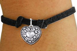 <bR>                 EXCLUSIVELY OURS!!<BR>           AN ALLAN ROBIN DESIGN!!<BR>  CLICK HERE TO SEE 1000+ EXCITING<BR>     CHANGES THAT YOU CAN MAKE!<BR> CADMIUM, LEAD & NICKEL FREE!! <BR>W1320SB - ANTIQUED SILVER TONE <BR>  SCRIPT HEART CHARM & CHILDS <BR>BRACELET FROM $4.15 TO $8.00 �2012