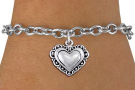 <bR>                 EXCLUSIVELY OURS!!<BR>           AN ALLAN ROBIN DESIGN!!<BR>  CLICK HERE TO SEE 1000+ EXCITING<BR>     CHANGES THAT YOU CAN MAKE!<BR> CADMIUM, LEAD & NICKEL FREE!! <BR>W1321SB - ANTIQUED SILVER TONE <BR>SCRIPT HEART CHARM & BRACELET <BR>        FROM $4.15 TO $8.00 �2012