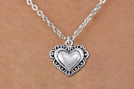 <bR>                 EXCLUSIVELY OURS!!<BR>           AN ALLAN ROBIN DESIGN!!<BR>  CLICK HERE TO SEE 1000+ EXCITING<BR>     CHANGES THAT YOU CAN MAKE!<BR> CADMIUM, LEAD & NICKEL FREE!! <BR>W1321SN - ANTIQUED SILVER TONE <BR>SCRIPT HEART CHARM & CHILDS <BR>NECKLACE FROM $4.50 TO $8.35 �2012