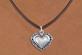<bR>                 EXCLUSIVELY OURS!!<BR>           AN ALLAN ROBIN DESIGN!!<BR>  CLICK HERE TO SEE 1000+ EXCITING<BR>     CHANGES THAT YOU CAN MAKE!<BR> CADMIUM, LEAD & NICKEL FREE!! <BR>W1321SN - ANTIQUED SILVER TONE <BR>SCRIPT HEART CHARM & NECKLACE <BR>   FROM $4.50 TO $8.35 �2012