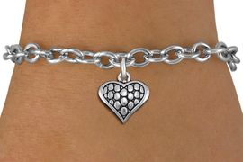 <bR>                 EXCLUSIVELY OURS!!<BR>           AN ALLAN ROBIN DESIGN!!<BR>  CLICK HERE TO SEE 1000+ EXCITING<BR>     CHANGES THAT YOU CAN MAKE!<BR> CADMIUM, LEAD & NICKEL FREE!! <BR>W1322SB - ANTIQUED SILVER TONE <BR>SCRIPT HEART CHARM & BRACELET <BR>        FROM $4.15 TO $8.00 �2012