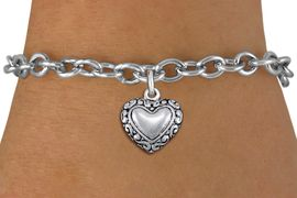 <bR>                 EXCLUSIVELY OURS!!<BR>           AN ALLAN ROBIN DESIGN!!<BR>  CLICK HERE TO SEE 1000+ EXCITING<BR>     CHANGES THAT YOU CAN MAKE!<BR> CADMIUM, LEAD & NICKEL FREE!! <BR>W1323SB - ANTIQUED SILVER TONE <BR>SCRIPT HEART CHARM & BRACELET <BR>        FROM $4.15 TO $8.00 �2012