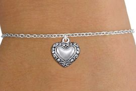 <bR>                 EXCLUSIVELY OURS!!<BR>           AN ALLAN ROBIN DESIGN!!<BR>  CLICK HERE TO SEE 1000+ EXCITING<BR>     CHANGES THAT YOU CAN MAKE!<BR> CADMIUM, LEAD & NICKEL FREE!! <BR>W1323SB - ANTIQUED SILVER TONE <BR>SCRIPT HEART CHARM & CHILDS <BR>BRACELET FROM $4.15 TO $8.00 �2012