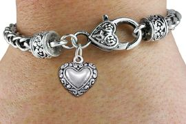 <bR>                 EXCLUSIVELY OURS!!<BR>           AN ALLAN ROBIN DESIGN!!<BR>  CLICK HERE TO SEE 1000+ EXCITING<BR>     CHANGES THAT YOU CAN MAKE!<BR> CADMIUM, LEAD & NICKEL FREE!! <BR>W1323SB - ANTIQUED SILVER TONE <BR>SCRIPT HEART CHARM & HEART CLASP <BR>BRACELET FROM $3.94 TO $8.75 �2012