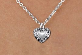 <bR>                EXCLUSIVELY OURS!!<BR>          AN ALLAN ROBIN DESIGN!!<BR> CLICK HERE TO SEE 1000+ EXCITING<BR>    CHANGES THAT YOU CAN MAKE!<BR>CADMIUM, LEAD & NICKEL FREE!! <BR> W1323SN - ANTIQUED SILVER TONE <BR>SCRIPT HEART CHARM & CHILDS <BR>NECKLACE FROM $4.50 TO $8.35 �2012
