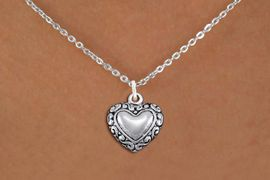 <bR>                EXCLUSIVELY OURS!!<BR>          AN ALLAN ROBIN DESIGN!!<BR> CLICK HERE TO SEE 1000+ EXCITING<BR>    CHANGES THAT YOU CAN MAKE!<BR>CADMIUM, LEAD & NICKEL FREE!! <BR> W1323SN - ANTIQUED SILVER TONE <BR>SCRIPT HEART CHARM & NECKLACE <BR>     FROM $4.55 TO $8.00 �2012