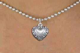 <bR>                EXCLUSIVELY OURS!!<BR>          AN ALLAN ROBIN DESIGN!!<BR> CLICK HERE TO SEE 1000+ EXCITING<BR>    CHANGES THAT YOU CAN MAKE!<BR>CADMIUM, LEAD & NICKEL FREE!! <BR> W1323SN - ANTIQUED SILVER TONE <BR>SCRIPT HEART CHARM & NECKLACE <BR>     FROM $4.50 TO $8.35 �2012