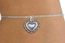 <bR>                 EXCLUSIVELY OURS!!<BR>           AN ALLAN ROBIN DESIGN!!<BR>  CLICK HERE TO SEE 1000+ EXCITING<BR>     CHANGES THAT YOU CAN MAKE!<BR> CADMIUM, LEAD & NICKEL FREE!! <BR>W1324SB - ANTIQUED SILVER TONE <BR>SCRIPT HEART CHARM & CHILDS <BR>BRACELET FROM $4.15 TO $8.00 �2012