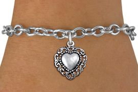 <bR>                 EXCLUSIVELY OURS!!<BR>           AN ALLAN ROBIN DESIGN!!<BR>  CLICK HERE TO SEE 1000+ EXCITING<BR>     CHANGES THAT YOU CAN MAKE!<BR> CADMIUM, LEAD & NICKEL FREE!! <BR>W1325SB - ANTIQUED SILVER TONE <BR>SCRIPT HEART CHARM & BRACELET <BR>        FROM $4.15 TO $8.00 �2012