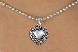 <bR>                EXCLUSIVELY OURS!!<BR>          AN ALLAN ROBIN DESIGN!!<BR> CLICK HERE TO SEE 1000+ EXCITING<BR>    CHANGES THAT YOU CAN MAKE!<BR>CADMIUM, LEAD & NICKEL FREE!! <BR> W1325SN - ANTIQUED SILVER TONE <BR>SCRIPT HEART CHARM & NECKLACE <BR>     FROM $4.50 TO $8.35 �2012