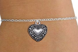 <bR>                 EXCLUSIVELY OURS!!<BR>           AN ALLAN ROBIN DESIGN!!<BR>  CLICK HERE TO SEE 1000+ EXCITING<BR>     CHANGES THAT YOU CAN MAKE!<BR> CADMIUM, LEAD & NICKEL FREE!! <BR>W1327SB - ANTIQUED SILVER TONE <BR>SCRIPT HEART & CHILD'S BRACELET <BR>        FROM $4.15 TO $8.00 �2012