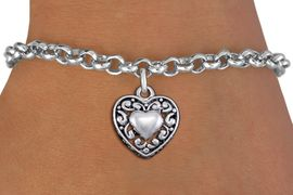 <bR>                 EXCLUSIVELY OURS!!<BR>           AN ALLAN ROBIN DESIGN!!<BR>  CLICK HERE TO SEE 1000+ EXCITING<BR>     CHANGES THAT YOU CAN MAKE!<BR> CADMIUM, LEAD & NICKEL FREE!! <BR>W1328SB - ANTIQUED SILVER TONE <BR>SCRIPT HEART CHARM & BRACELET <BR>        FROM $4.15 TO $8.00 �2012