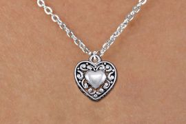 <bR>                EXCLUSIVELY OURS!!<BR>          AN ALLAN ROBIN DESIGN!!<BR> CLICK HERE TO SEE 1000+ EXCITING<BR>    CHANGES THAT YOU CAN MAKE!<BR>CADMIUM, LEAD & NICKEL FREE!! <BR> W1328SN - ANTIQUED SILVER TONE <BR>SCRIPT HEART & CHILD'S NECKLACE <BR>     FROM $4.50 TO $8.35 �2012