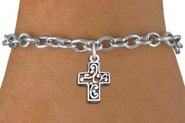 <bR>                 EXCLUSIVELY OURS!!<BR>           AN ALLAN ROBIN DESIGN!!<BR>  CLICK HERE TO SEE 1000+ EXCITING<BR>     CHANGES THAT YOU CAN MAKE!<BR> CADMIUM, LEAD & NICKEL FREE!! <BR>W1335SB - ANTIQUED SILVER TONE <BR>SCRIPT CROSS CHARM & BRACELET <BR>        FROM $4.15 TO $8.00 �2012