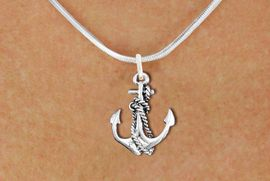 <bR>                EXCLUSIVELY OURS!!<BR>          AN ALLAN ROBIN DESIGN!!<BR> CLICK HERE TO SEE 1000+ EXCITING<BR>    CHANGES THAT YOU CAN MAKE!<BR>CADMIUM, LEAD & NICKEL FREE!! <BR> W1337SN - ANTIQUED SILVER TONE <BR> BOAT ANCHOR CHARM & NECKLACE <BR>     FROM $4.50 TO $8.35 �2012