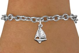 <bR>                 EXCLUSIVELY OURS!!<BR>           AN ALLAN ROBIN DESIGN!!<BR>  CLICK HERE TO SEE 1000+ EXCITING<BR>     CHANGES THAT YOU CAN MAKE!<BR> CADMIUM, LEAD & NICKEL FREE!! <BR>W1338SB - ANTIQUED SILVER TONE <BR> SAILBOAT CHARM & BRACELET <BR>        FROM $4.15 TO $8.00 �2012