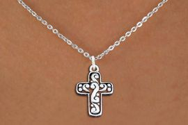 <bR>                EXCLUSIVELY OURS!!<BR>          AN ALLAN ROBIN DESIGN!!<BR> CLICK HERE TO SEE 1000+ EXCITING<BR>    CHANGES THAT YOU CAN MAKE!<BR>CADMIUM, LEAD & NICKEL FREE!! <BR> W1340SN - ANTIQUED SILVER TONE <BR>SCRIPT CROSS CHARM & NECKLACE <BR>     FROM $4.50 TO $8.35 �2012