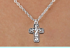 <bR>                EXCLUSIVELY OURS!!<BR>          AN ALLAN ROBIN DESIGN!!<BR> CLICK HERE TO SEE 1000+ EXCITING<BR>    CHANGES THAT YOU CAN MAKE!<BR>CADMIUM, LEAD & NICKEL FREE!! <BR> W1340SN - ANTIQUED SILVER TONE <BR>SCRIPT CROSS & CHILDS NECKLACE <BR>     FROM $4.50 TO $8.35 �2012