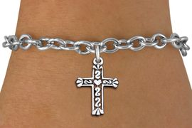 <bR>                 EXCLUSIVELY OURS!!<BR>           AN ALLAN ROBIN DESIGN!!<BR>  CLICK HERE TO SEE 1000+ EXCITING<BR>     CHANGES THAT YOU CAN MAKE!<BR> CADMIUM, LEAD & NICKEL FREE!! <BR>W1341SB - ANTIQUED SILVER TONE <BR>SCRIPT CROSS CHARM & BRACELET <BR>        FROM $4.15 TO $8.00 �2012
