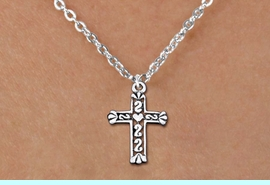<bR>                EXCLUSIVELY OURS!!<BR>          AN ALLAN ROBIN DESIGN!!<BR> CLICK HERE TO SEE 1000+ EXCITING<BR>    CHANGES THAT YOU CAN MAKE!<BR>CADMIUM, LEAD & NICKEL FREE!! <BR> W1341SN - ANTIQUED SILVER TONE <BR>SCRIPT CROSS & CHILDS NECKLACE <BR>     FROM $4.50 TO $8.35 �2012