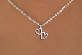 "<bR>                EXCLUSIVELY OURS!!<BR>          AN ALLAN ROBIN DESIGN!!<BR> CLICK HERE TO SEE 1000+ EXCITING<BR>    CHANGES THAT YOU CAN MAKE!<BR>CADMIUM, LEAD & NICKEL FREE!! <BR> W1372SN - SMALL SILVER TONE <BR>""TRUE LOVE"" HEARTS CHARM & NECKLACE <BR>     FROM $4.50 TO $8.35 �2012"
