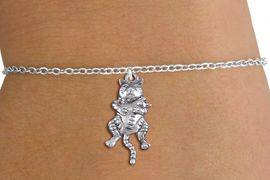 <bR>                 EXCLUSIVELY OURS!!<BR>            AN ALLAN ROBIN DESIGN!!<BR>   CLICK HERE TO SEE 1000+ EXCITING<BR>      CHANGES THAT YOU CAN MAKE!<BR>  CADMIUM, LEAD & NICKEL FREE!! <BR> W1373SB - ANTIQUED SILVER TONE <BR> MOTHER CAT HOLDING HER BABY CHARM <BR> & BRACELET FROM $4.15 TO $8.00 �2012