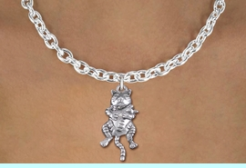 <bR>                EXCLUSIVELY OURS!! <BR>           AN ALLAN ROBIN DESIGN!! <BR>  CLICK HERE TO SEE 1000+ EXCITING <BR>     CHANGES THAT YOU CAN MAKE! <BR> CADMIUM, LEAD & NICKEL FREE!! <BR>  W1373SN - ANTIQUED SILVER TONE <BR> MOTHER CAT HOLDING HER BABY CHARM <BR> & NECKLACE FROM $4.50 TO $8.35 �2012
