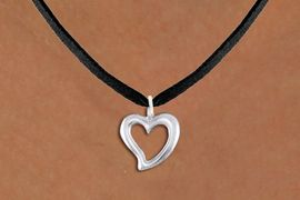 <bR>                EXCLUSIVELY OURS!!<BR>          AN ALLAN ROBIN DESIGN!!<BR> CLICK HERE TO SEE 1000+ EXCITING<BR>    CHANGES THAT YOU CAN MAKE!<BR>CADMIUM, LEAD & NICKEL FREE!! <BR> W1374SN - LARGE SILVER TONE <BR> OPEN HEART CHARM & NECKLACE <BR>     FROM $4.50 TO $8.35 �2012