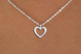 <bR>                EXCLUSIVELY OURS!!<BR>          AN ALLAN ROBIN DESIGN!!<BR> CLICK HERE TO SEE 1000+ EXCITING<BR>    CHANGES THAT YOU CAN MAKE!<BR>CADMIUM, LEAD & NICKEL FREE!! <BR> W1375SN - SMALL SILVER TONE <BR> OPEN HEART CHARM & NECKLACE <BR>     FROM $4.50 TO $8.35 �2012