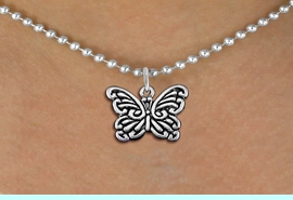<bR>                 EXCLUSIVELY OURS!!<BR>           AN ALLAN ROBIN DESIGN!!<BR>  CLICK HERE TO SEE 1000+ EXCITING<BR>     CHANGES THAT YOU CAN MAKE!<BR> CADMIUM, LEAD & NICKEL FREE!! <BR>     W1391SN - BUTTERFLY CHARM <BR> NECKLACE FROM $4.50 TO $8.35 �2013