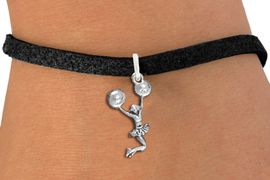 <bR>                 EXCLUSIVELY OURS!!<BR>            AN ALLAN ROBIN DESIGN!!<BR>   CLICK HERE TO SEE 1000+ EXCITING<BR>         CHANGES THAT YOU CAN MAKE!<BR>      CADMIUM, LEAD & NICKEL FREE!!<BR> W1399B3 - SPIRIT POM POMS JUMPING <Br>      CHEERLEADER CHARM & BRACELET <BR>                    $9.38 EACH �2013