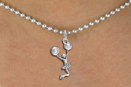 <bR>               EXCLUSIVELY OURS!! <BR>          AN ALLAN ROBIN DESIGN!! <BR> CLICK HERE TO SEE 1000+ EXCITING <BR>       CHANGES THAT YOU CAN MAKE! <BR>    CADMIUM, LEAD & NICKEL FREE!! <BR> W1399SN - SPIRIT POM POMS JUMPING <Br>     CHEERLEADER CHARM & NECKLACE <BR>         FROM $4.50 TO $8.35 �2013