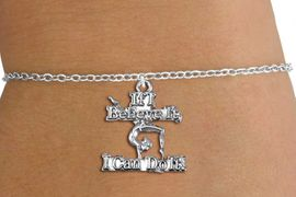"""<BR>                   Children's Bracelet<bR>                  EXCLUSIVELY OURS!!<BR>             AN ALLAN ROBIN DESIGN!!<BR>       CADMIUM, LEAD & NICKEL FREE!!<BR>  W1407SB - """"IF I BELIEVE IT, I CAN <Br> DO IT"""" GYMNASTICS CHARM & BRACELET <BR>           FROM $4.15 TO $8.00 �2013"""