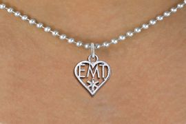 <bR>                 EXCLUSIVELY OURS!! <BR>            AN ALLAN ROBIN DESIGN!! <BR>   CLICK HERE TO SEE 1000+ EXCITING <BR>         CHANGES THAT YOU CAN MAKE! <BR>      CADMIUM, LEAD & NICKEL FREE!! <BR> W1430SN - EMT HEART CHARM NECKLACE <BR>           FROM $4.50 TO $8.35 �2013
