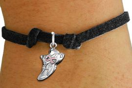 <bR>                     EXCLUSIVELY OURS!!<BR>               AN ALLAN ROBIN DESIGN!!<BR>      CLICK HERE TO SEE 1000+ EXCITING<BR>         CHANGES THAT YOU CAN MAKE!<BR>        CADMIUM,  LEAD & NICKEL FREE!! <BR>W312SB - SILVER TONE SNEAKER <BR>PINK RIBBON CHARM CHILD'S BRACELET <BR>           FROM $4.15 TO $8.00 �2012