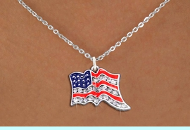 <bR>                  EXCLUSIVELY OURS!!<Br>            AN ALLAN ROBIN DESIGN!!<BR>   CLICK HERE TO SEE 1000+ EXCITING<BR>      CHANGES THAT YOU CAN MAKE!<BR>     LEAD, NICKEL & CADMIUM FREE!!<BR> W1317SN - PATRIOTIC USA FLAG <BR>      CRYSTAL CHARM AND NECKLACE <BR>         FROM $5.40 TO $9.85 �2012