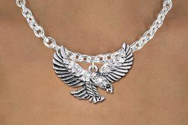 <bR>                  EXCLUSIVELY OURS!!<Br>            AN ALLAN ROBIN DESIGN!!<BR>   CLICK HERE TO SEE 1000+ EXCITING<BR>      CHANGES THAT YOU CAN MAKE!<BR>     LEAD, NICKEL & CADMIUM FREE!!<BR> W1319SN - BEAUTIFUL FLYING EAGLE <BR>      CRYSTAL CHARM AND NECKLACE <BR>         FROM $5.40 TO $9.85 �2012